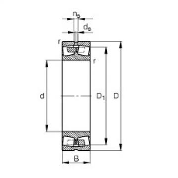 FAG Rolamento autocompensador de rolos - 248/1800-B-MB